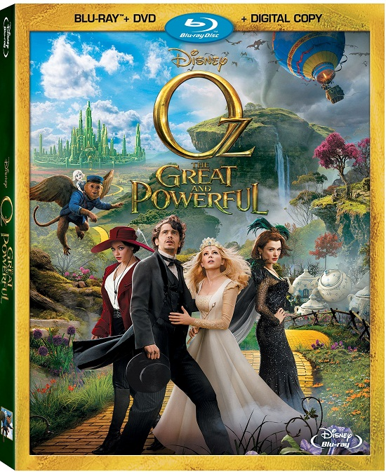 Oz The Great and Powerful Bluray and DVD Box Art