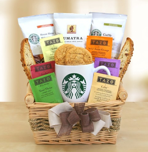 Starbucks Daybreak Gourmet Coffee Gift Basket - California Delicious