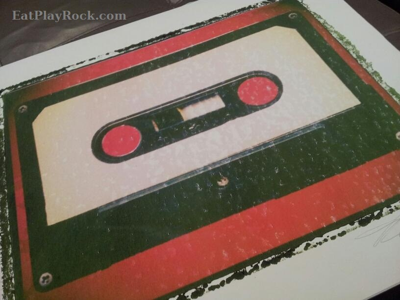 Vintage Cassette Rock Guitar Art Prints