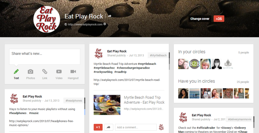 Eat Play Rock Google+ Header