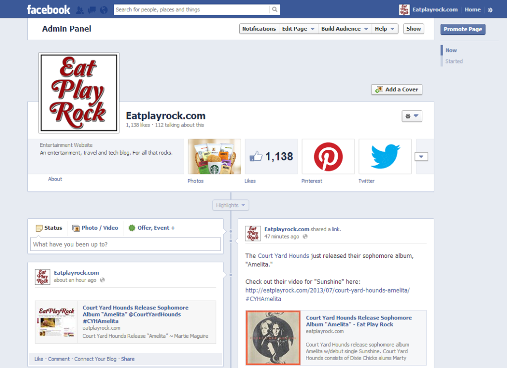 Eat Play Rock Facebook page