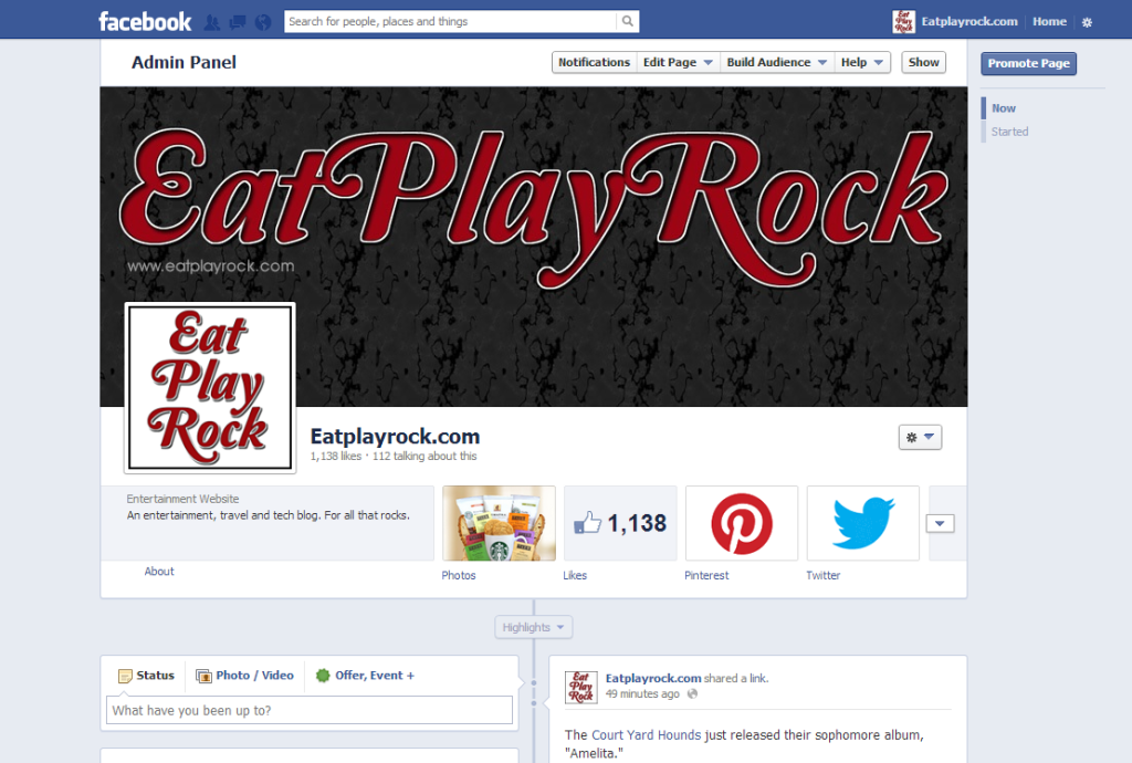 Eat Play Rock Facebook page Soup2Nuts custom design