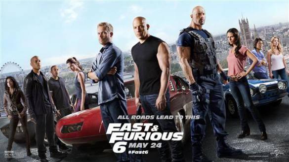 Fast and Furious 6 - Paul Walker, Vin Diesel, The Rock, Dwayne Johnson
