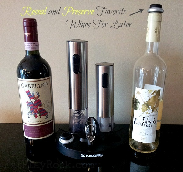 Wine Lover's Set with wine opener, pourer, sealer and foil remover from Kalorik