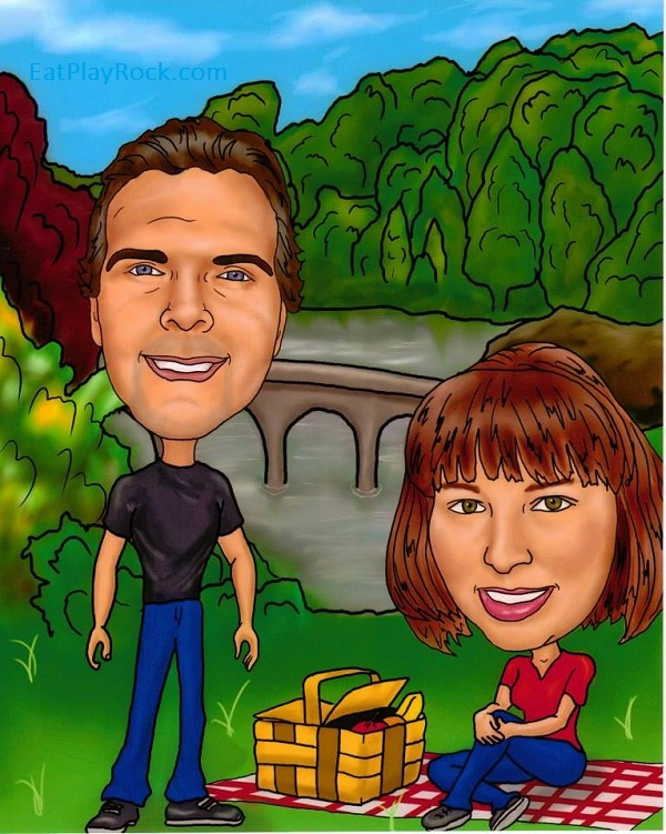 Personalized caricatures from Caricature Kingdom