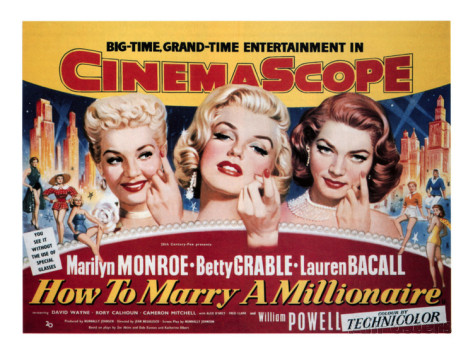 """How To Marry A Millionaire"" {1953} starring Marilyn Monroe, Lauren Bacall and Betty Grable #50fromthe50s"
