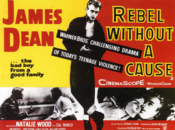 Rebel Without A Cause starring James Dean and Natalie Wood {1955} #50FromThe50s