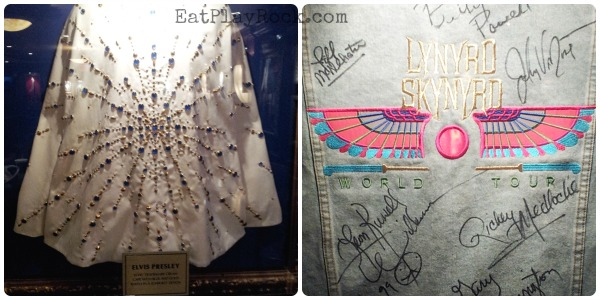 Elvis Presley and Lynyrd Skynyrd memorabilia at the Hard Rock Cafe Myrtle Beach #sponsored