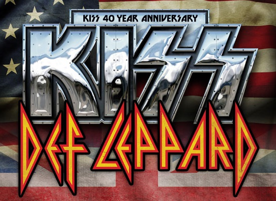 KISS and Def Leppard Setlist Summer 2014
