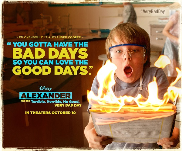 "Alexander and the Terrible, Horrible, No Good, Very Bad Day"" follows the exploits of 11-year-old Alexander (Ed Oxenbould) and his family {which includes Steve Carell and Jennifer Garner} as they experience the worst day of their entire lives. #VeryBadDay"
