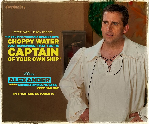 """Alexander and the Terrible, Horrible, No Good, Very Bad Day"""" follows the exploits of 11-year-old Alexander (Ed Oxenbould) and his family {which includes Steve Carell and Jennifer Garner} as they experience the worst day of their entire lives. #VeryBadDay"""