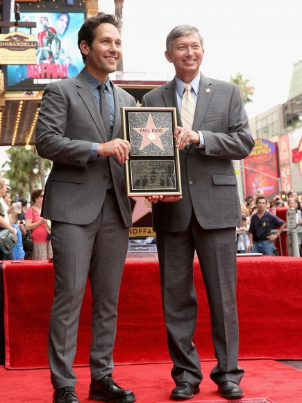 Paul Rudd Gets A Star On The Hollywood Walk Of Fame