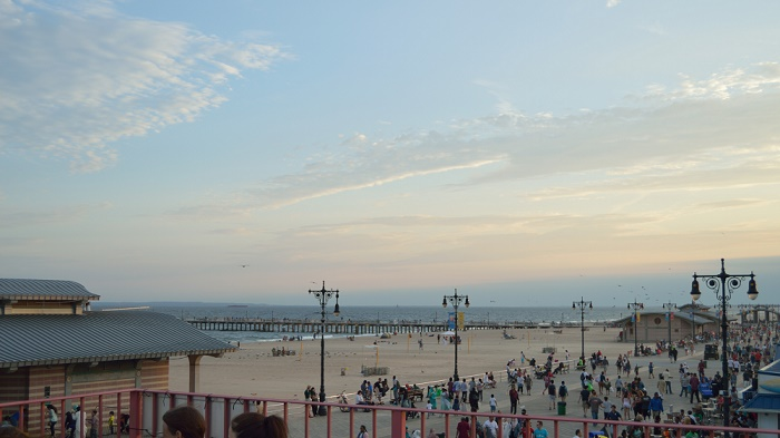 Coney Island Sunset Pictures: The View From Atop Tom's Coney Island