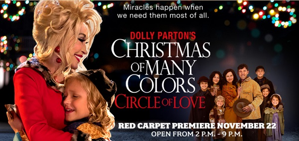 Dolly Parton's Christmas Of Many Colors Premiere At Dollywood 11/22