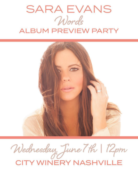 Tickets On Sale Now For Sara Evans Album Preview Party At Nashville's City Winery