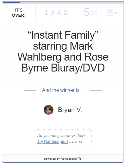 "Win A Bluray/DVD of ""Instant Family"" [US Ends 3/24]"