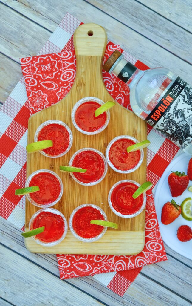 Shelter In Place With Strawberry Margarita Jello Shots Eat Play Rock