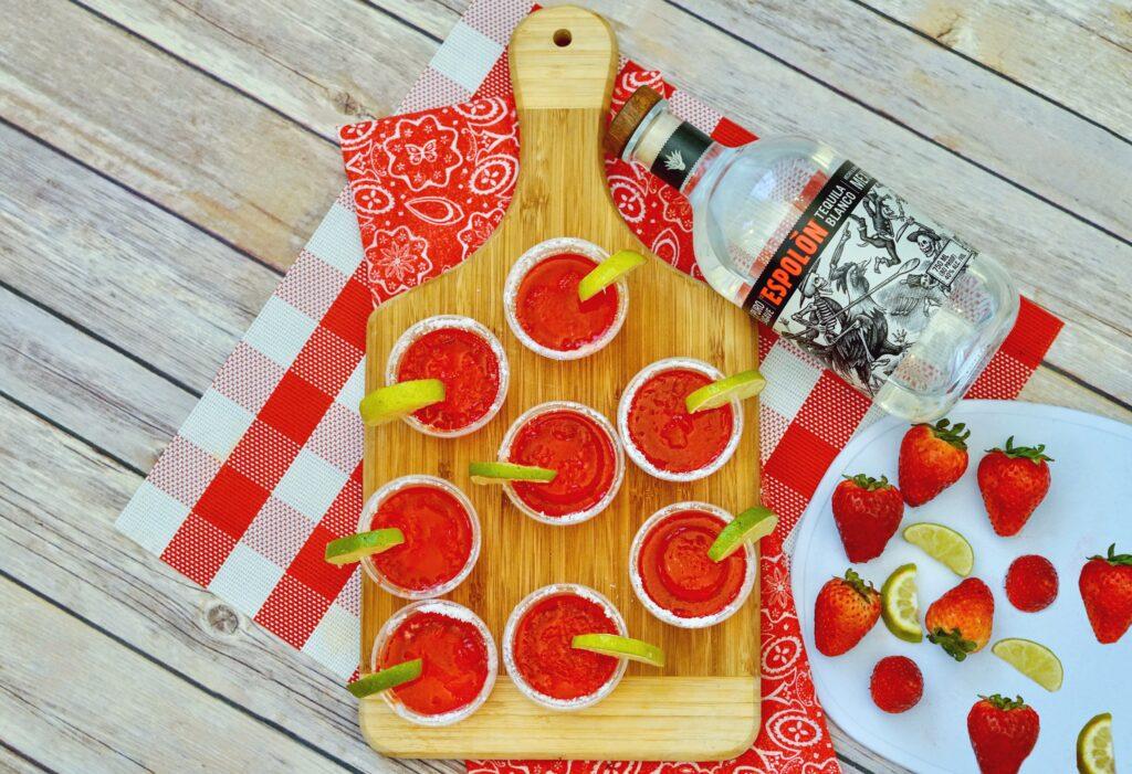 Strawberry Margarita Jello Shots
